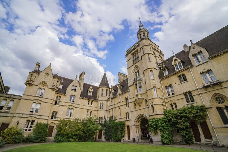 Front quadrangle Balliol college. At Oxford, United Kingdom royalty free stock image