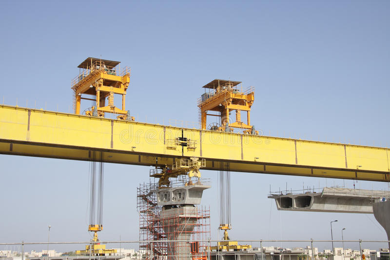 Download Front And Rear Gantry Legs Of Launching Girder Royalty Free Stock Photos - Image: 17424128