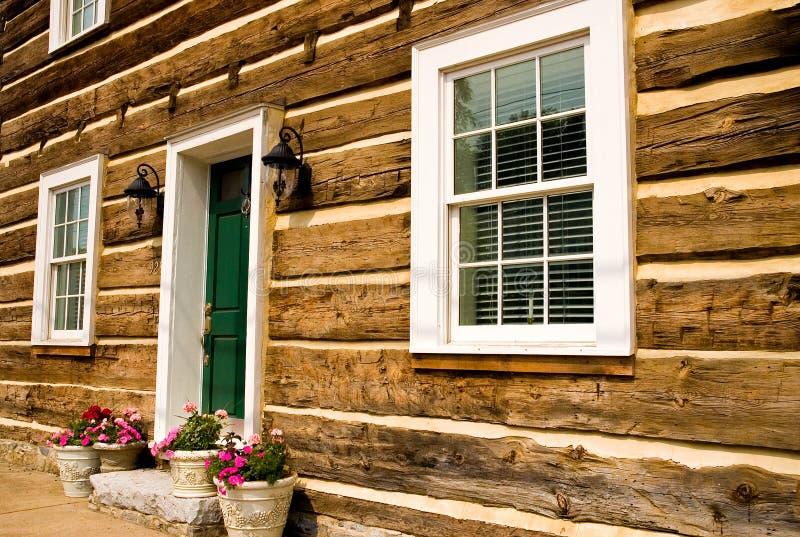 Download Front Of Restored Log House Stock Image - Image: 2504571