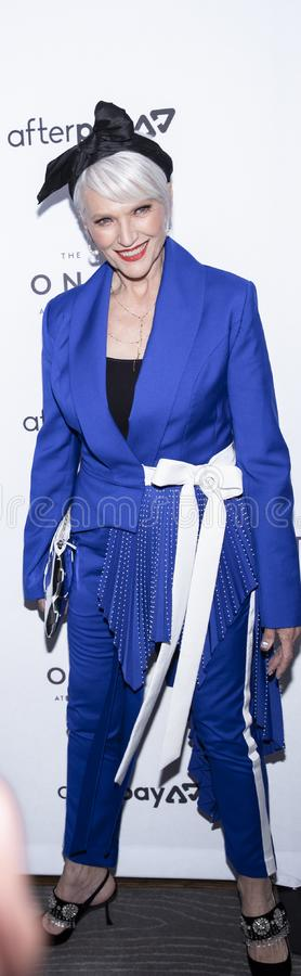 The Daily Front Row 7th Fashion Media Awards. New York, NY, USA - September 5, 2019: Maye Musk attends The Daily Front Row's 7th Fashion Media Awards at royalty free stock images