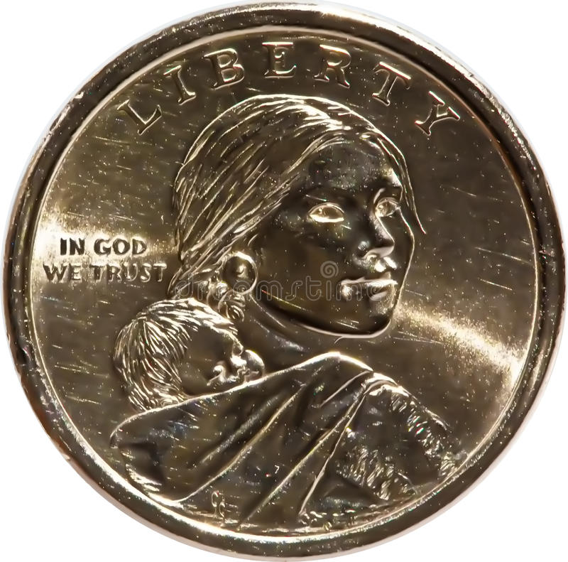 Download Front Of Sacajawea Gold Dollar Coin Stock Photo - Image of currency, coins: 11054414