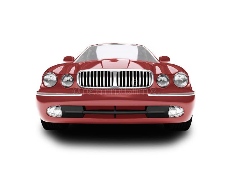 front samochodu czerwony odosobnione widok royalty ilustracja