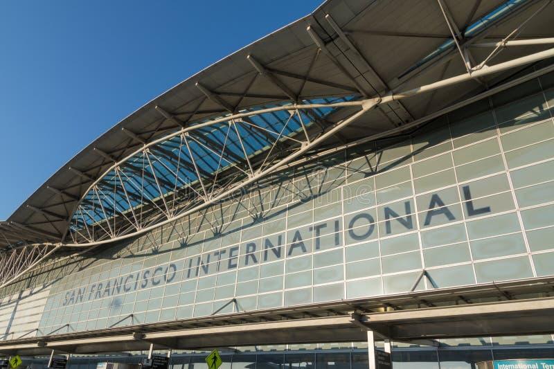 Front of San Francisco Airport departure terminal, California stock photo