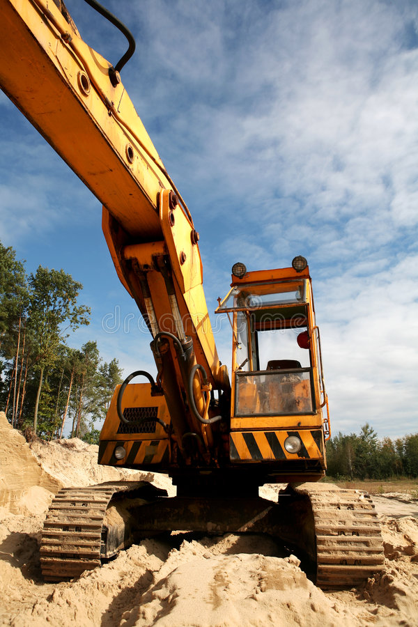 Download Front of sand digger stock image. Image of heavy, sand - 6633225