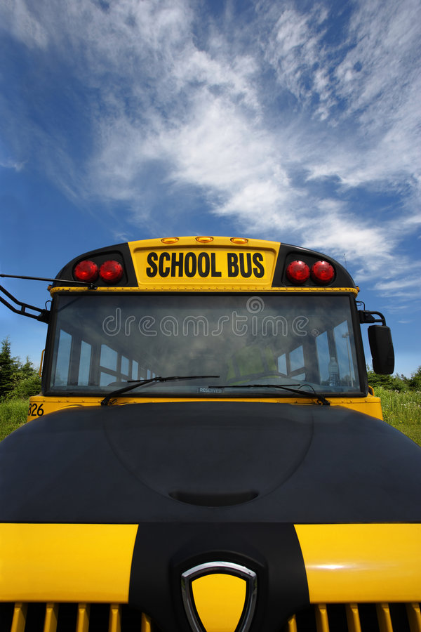 Download Front of School Bus stock image. Image of sunshine, front - 5837257