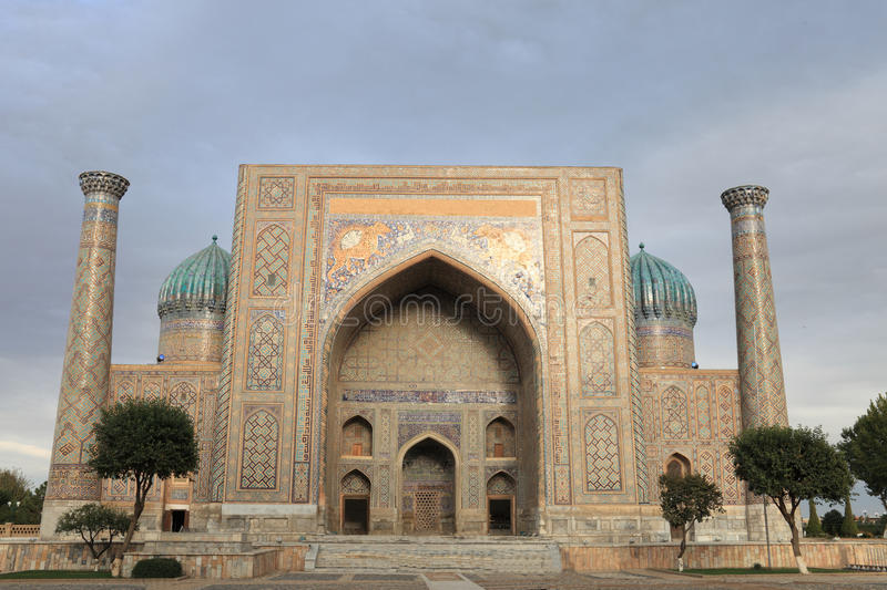 Download Front of Sher Dor Madrasah stock image. Image of facade - 21899987
