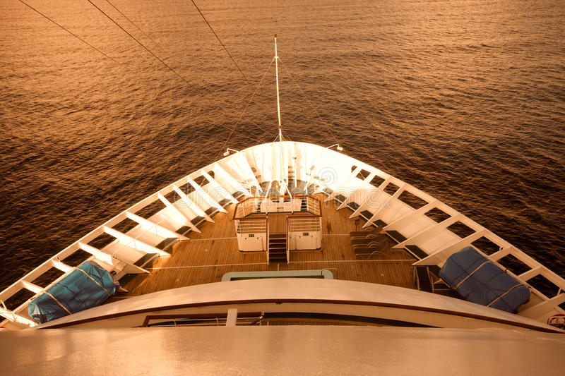 Download The front of a ship at sea stock image. Image of transport - 26111821