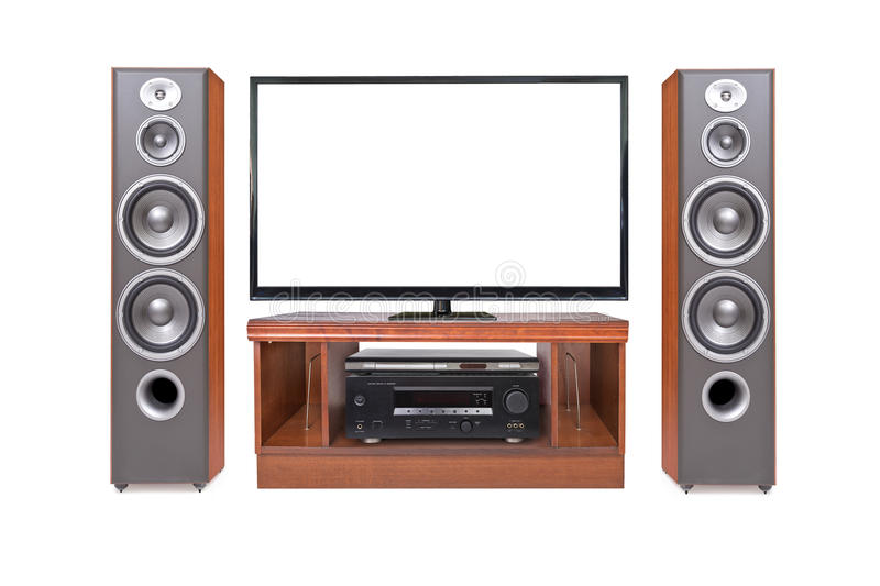 Download Front Shot Of Home Cinema System Stock Photo - Image: 38283340