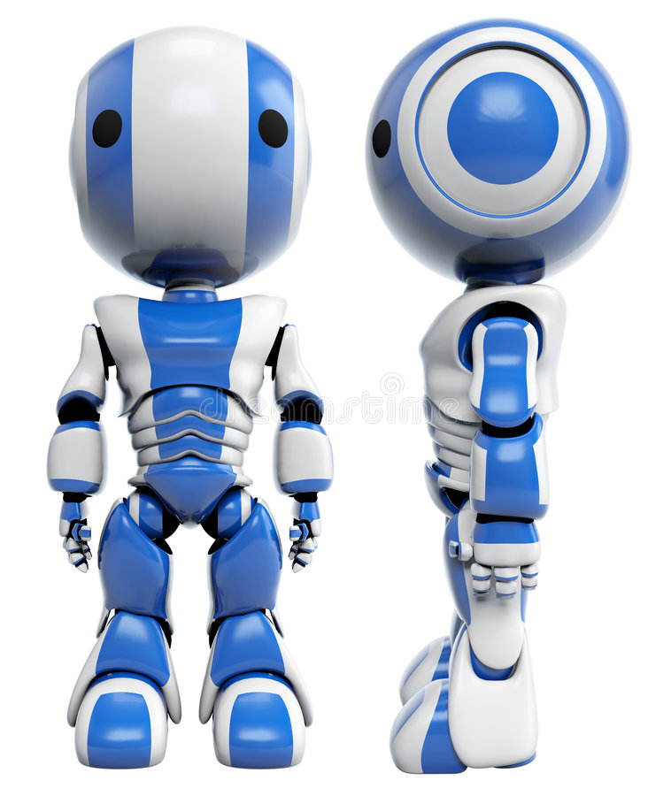Download Front And Side Of Blue Robots Stock Photography - Image: 8198352