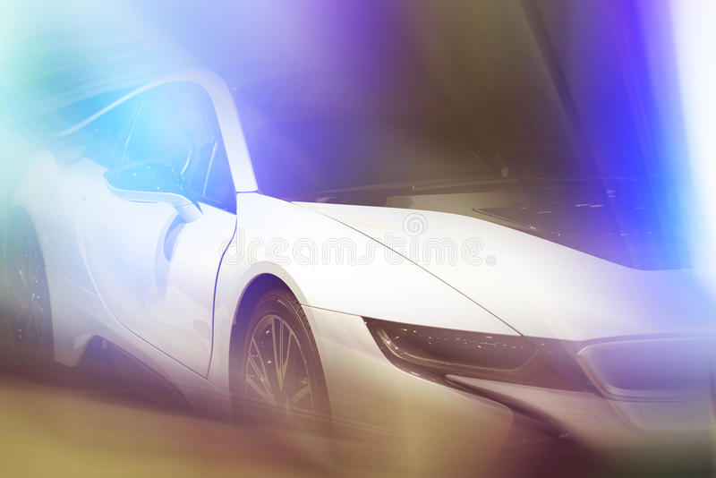 Front side of a car stock photography
