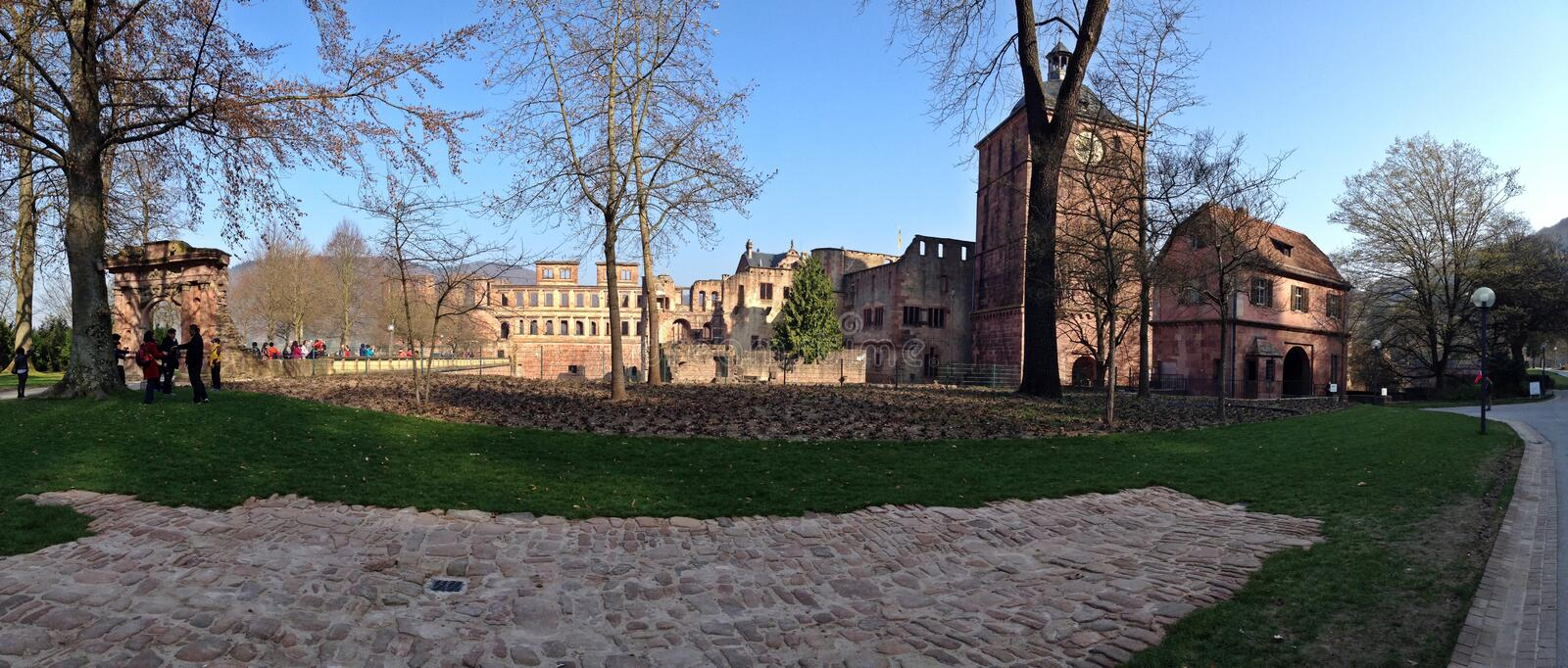 Front side of Heidelberg castle royalty free stock images