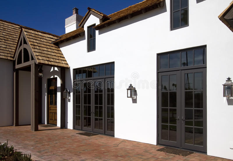 Download Front Side Of New Modern Desert Home Stock Image - Image: 18033591