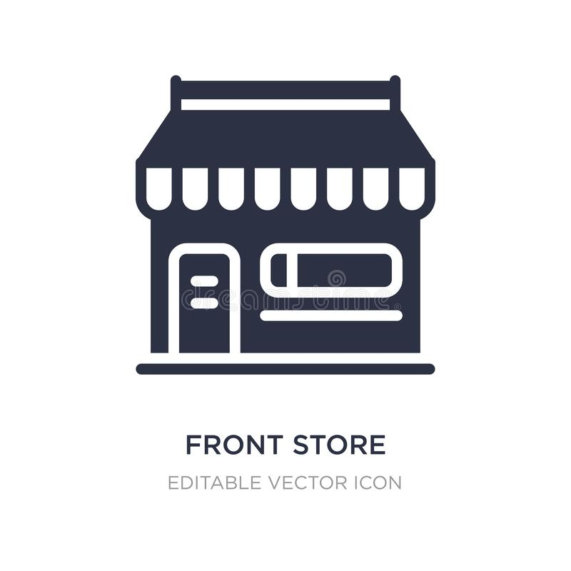 front store with awning icon on white background. Simple element illustration from Commerce concept stock illustration