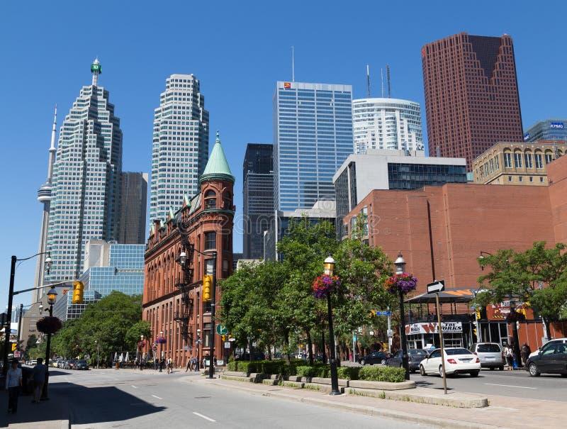 Front Street East Toronto stockfoto