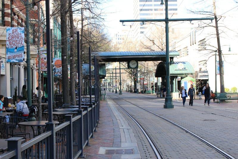 Front Street, Memphis, TN stock fotografie