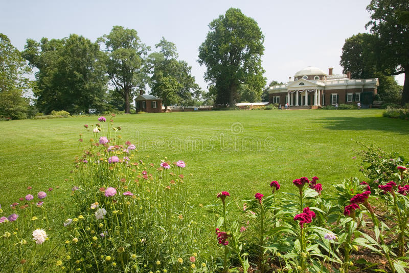 Download Front Of Thomas Jefferson's Monticello Stock Photo - Image of exterior, gardens: 26898194