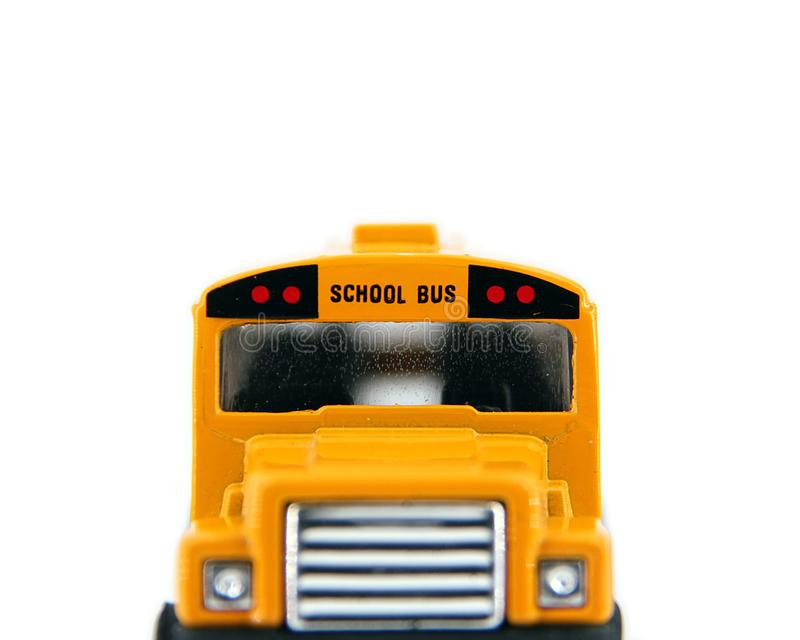 Front of a Toy School Bus royalty free stock image