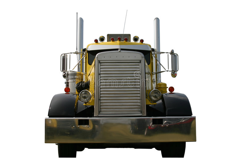 Front of Truck Yellow royalty free stock photos