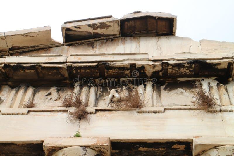Front van Tempel van Hephaestus in Oud Agora van Athene royalty-vrije stock foto's