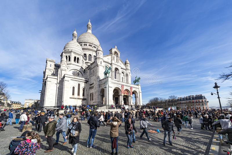 Montmartre, Sacré-coeur basilica royalty free stock photo