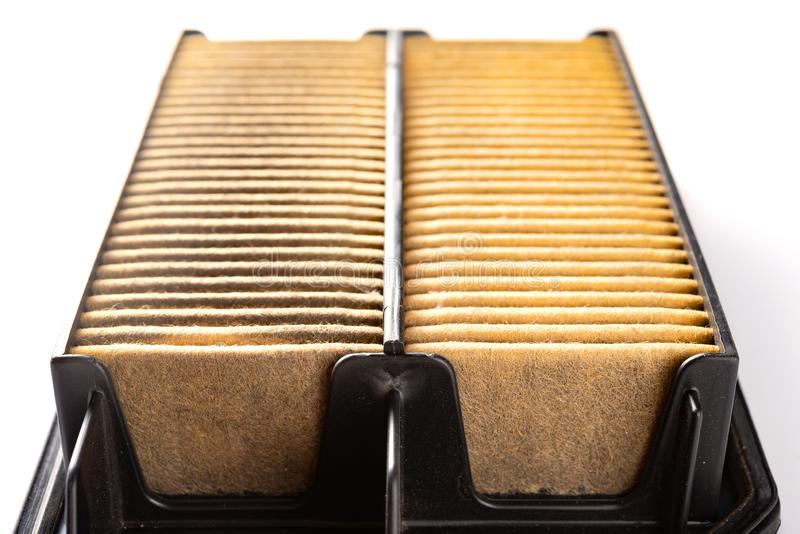 Front view air filter for a car stock photos
