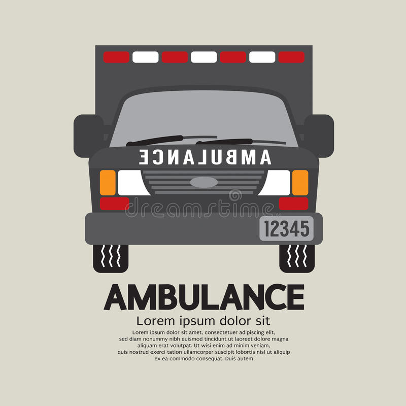 Front View Of Ambulance. Front View Of Ambulance Vector Illustration vector illustration
