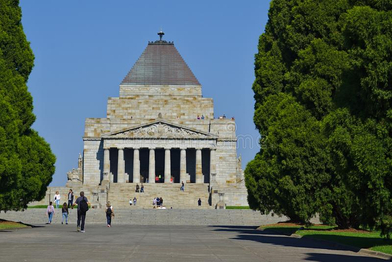 Front view of Anzac Shrine Remembrance royalty free stock images