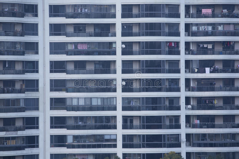 Apartment Building Front front view of apartment building windows stock photo - image: 48400415