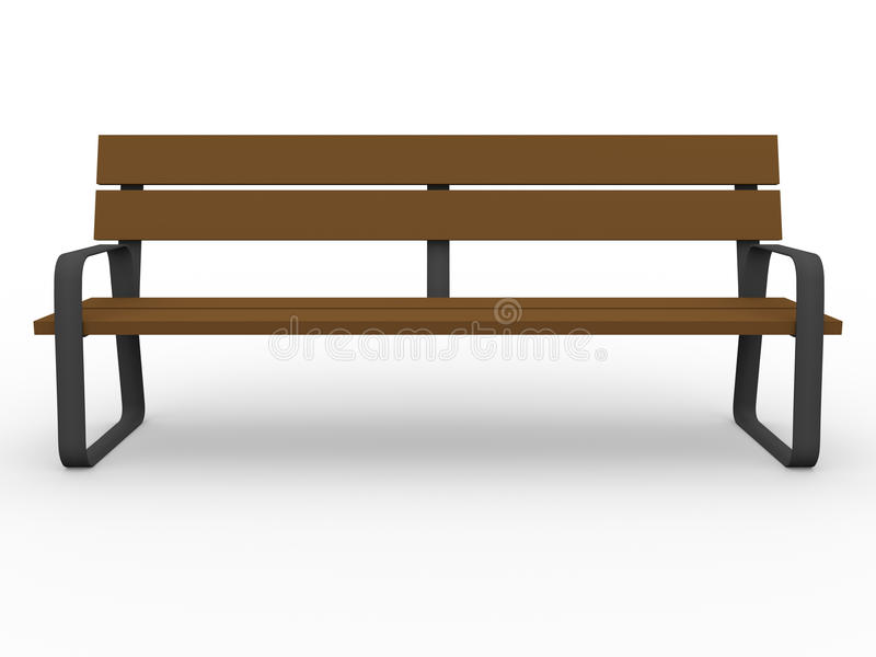 Download Front view of a bench stock illustration. Image of lumber - 21900283