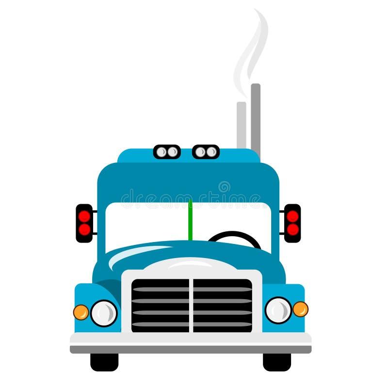 Blue Big Rig Truck royalty free illustration