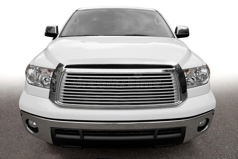 Front view of a big car royalty free stock images