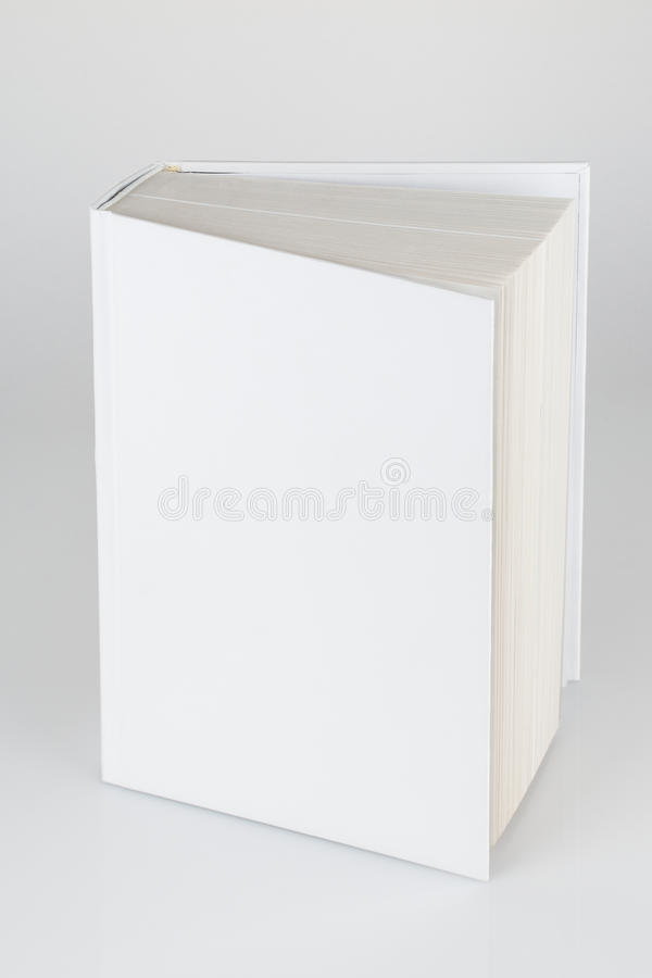 Front view of Blank book cover white isolated stock photo