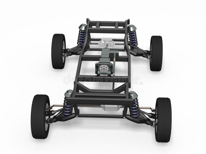 Front view car chassis royalty free stock image