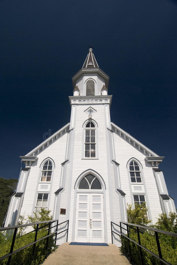 Front View of the Church stock photography