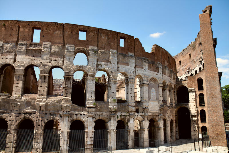 Front View Of Colosseum Royalty Free Stock Images