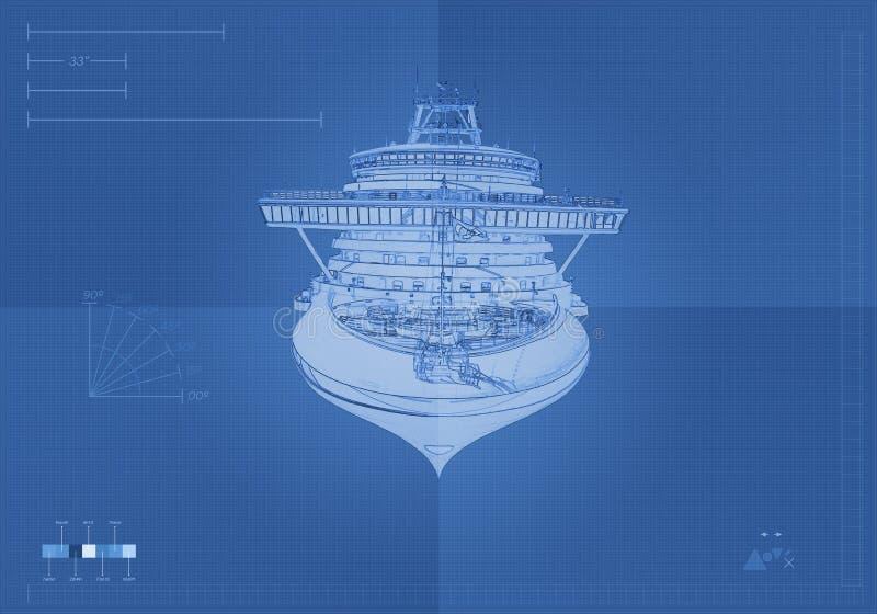 Front View Cruise Ship illustration libre de droits