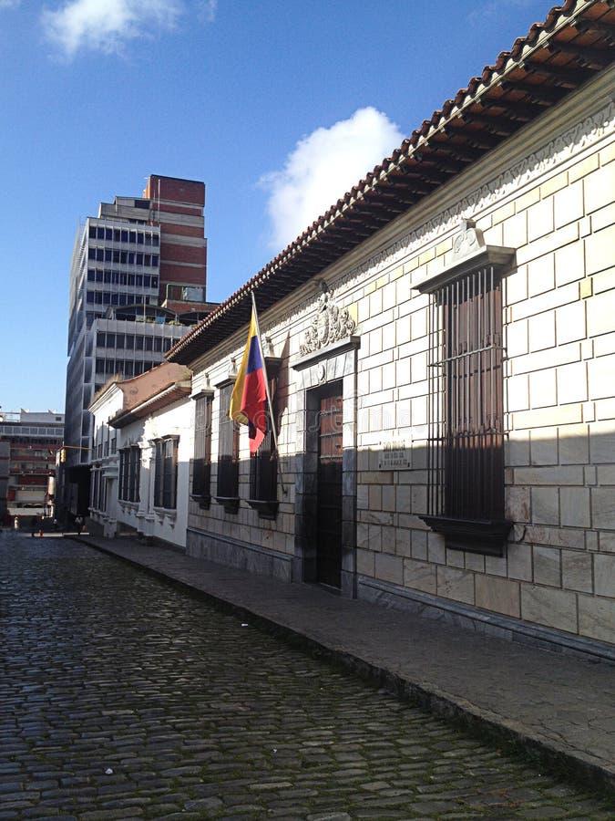 Front View da casa de Simon Bolivar fotografia de stock royalty free