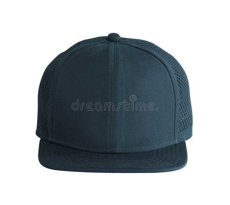 Front View de chapeau noir d'isolement sur le blanc photo libre de droits