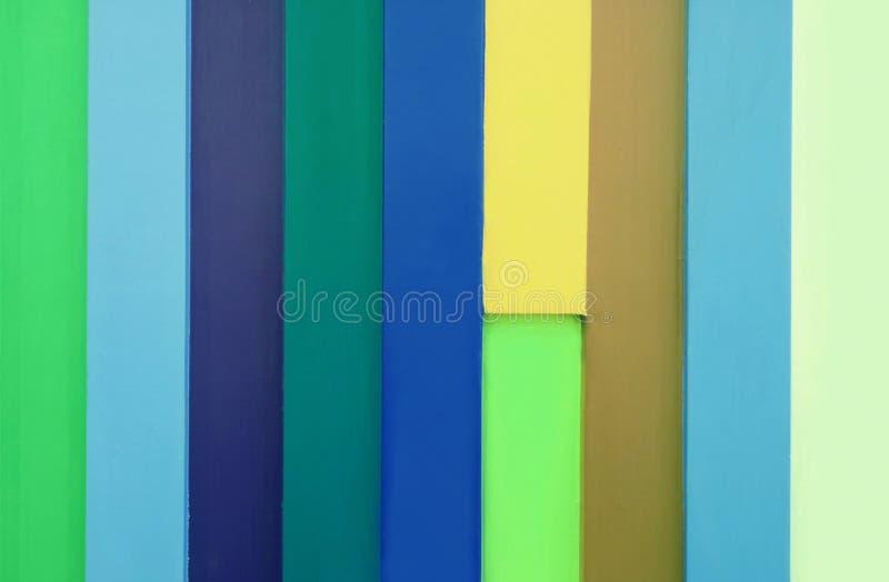 Front View della plancia di legno colorata Multi fotografia stock
