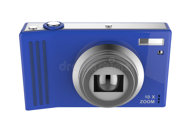 Camera. Front view of digital photo camera stock illustration