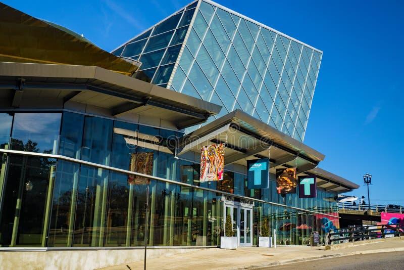 Front View do museu de arte de Taubman fotografia de stock royalty free
