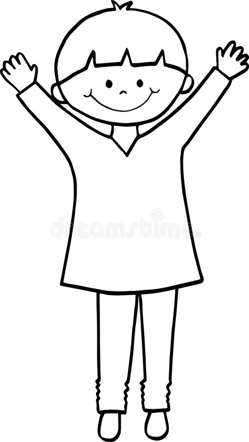 Happy smiling school boy standing royalty free stock photography