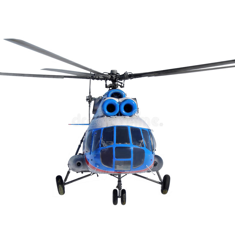Download Front View Of A Helicopter In Flight On White Background Stock Image - Image: 31138279