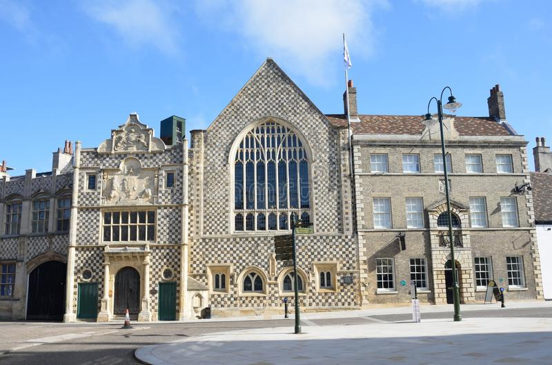 Front view of Kings Lynn Guildhall. Norfolk royalty free stock photography