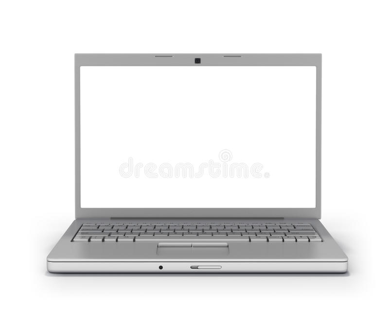 Download Front View Laptop Blank Screen [Clipping Path] Stock Illustration - Image: 12976580