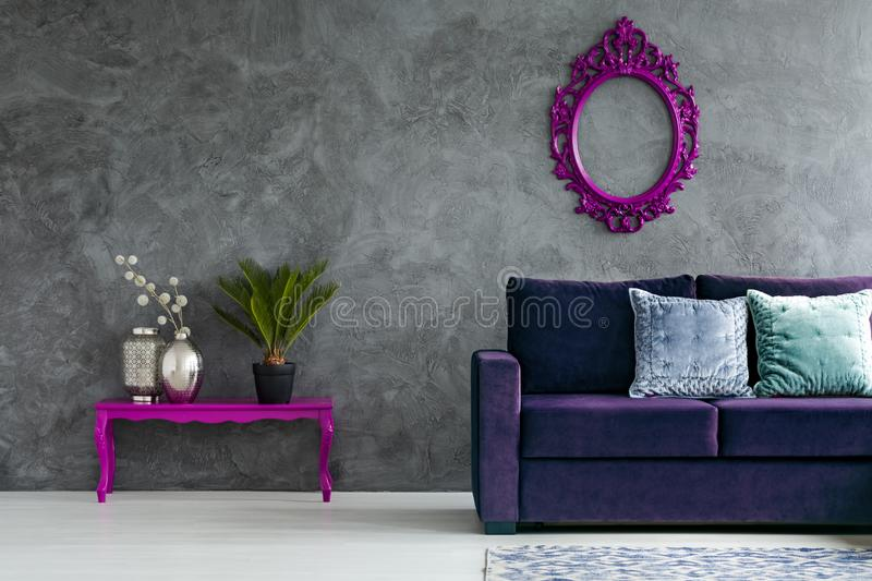 Front view of living room royalty free stock image