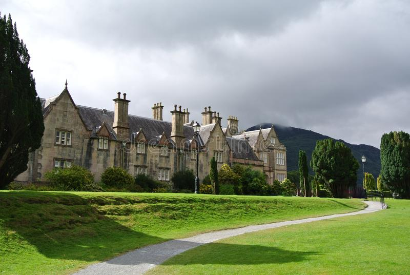 Front view of a manor house in Ireland stock photo