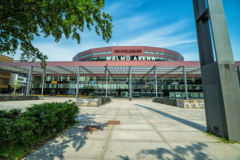 Front view for multi use indoor arena stock photography