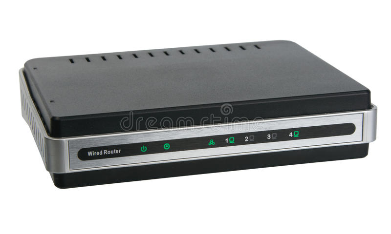 Download Front View Of Network Wired Router Stock Photo - Image: 14438464