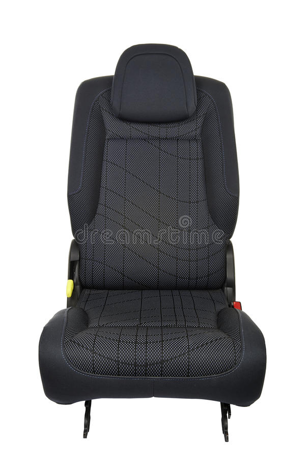 Free Front View Of A Car Seat Isolated Royalty Free Stock Photography - 46922907